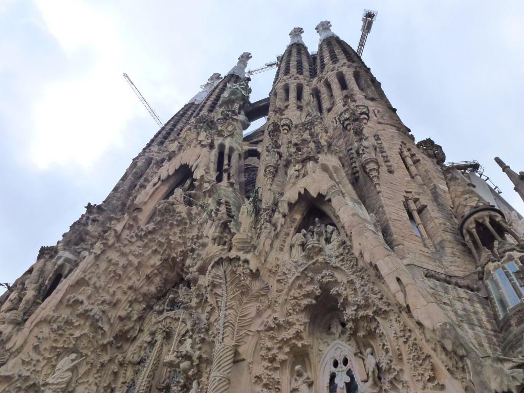 The Basilica Sangrata Familia, Barcelona, Spain.  2014