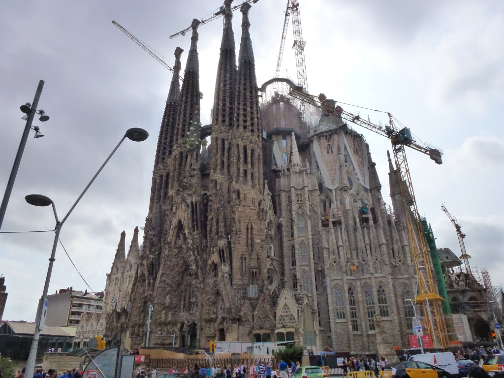 Can it be finished, rather than when will it be finished, is more the question ? Sagrada Familia. Barcelona, Spain.  2014