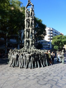 Apparently this madness passes for the local tradition in Tarragona.  It's a wonderful bronze sculpture, Spain.  2014