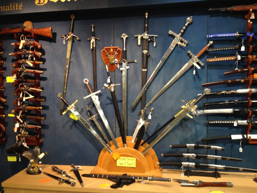 Everyone loves a sword shop