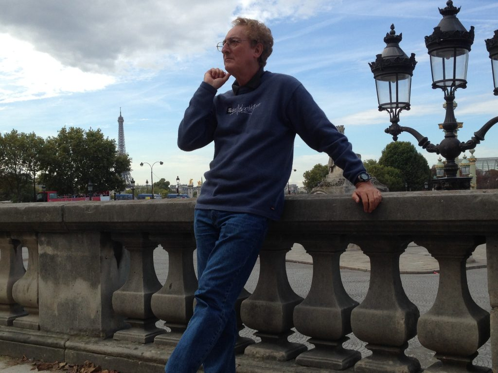 Rodney loitering in Paris