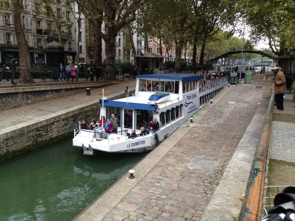 Canal Saint Martin, in the heart of Paris