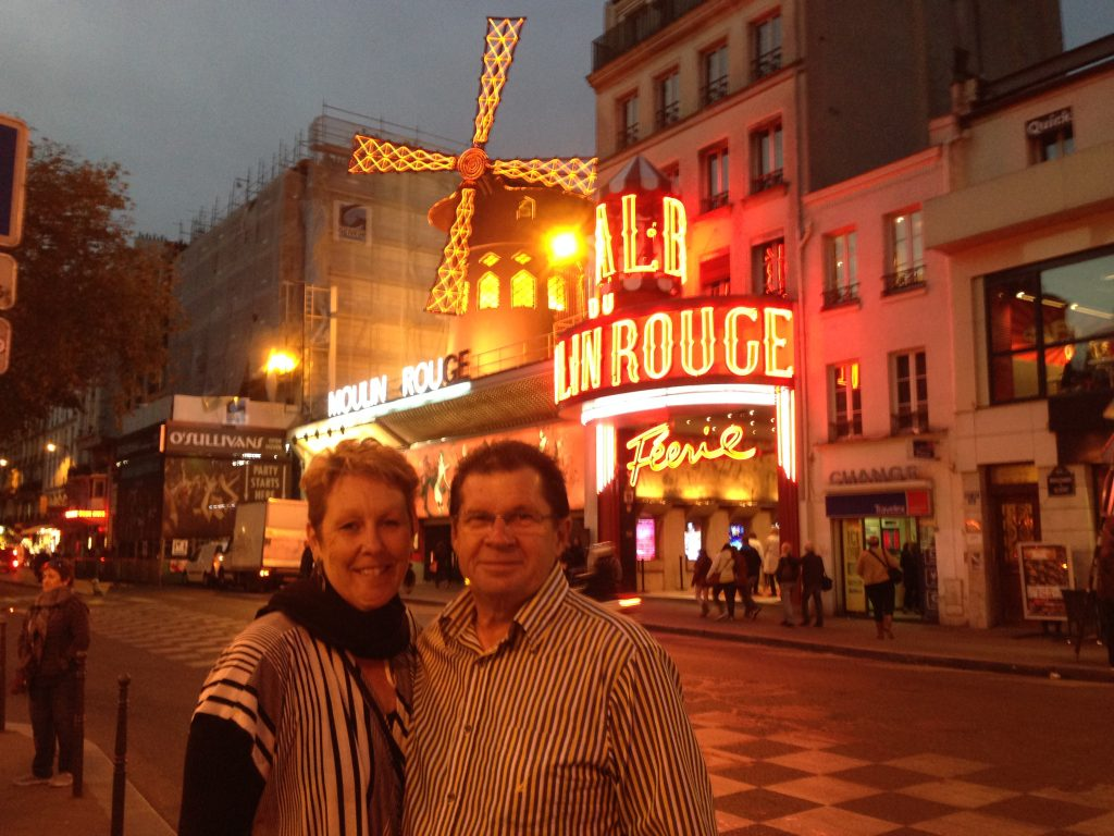 Our most expensive evening in Paris.  However the Moulin Rouge was a wonderful evening and luckily we pulled a front row table.