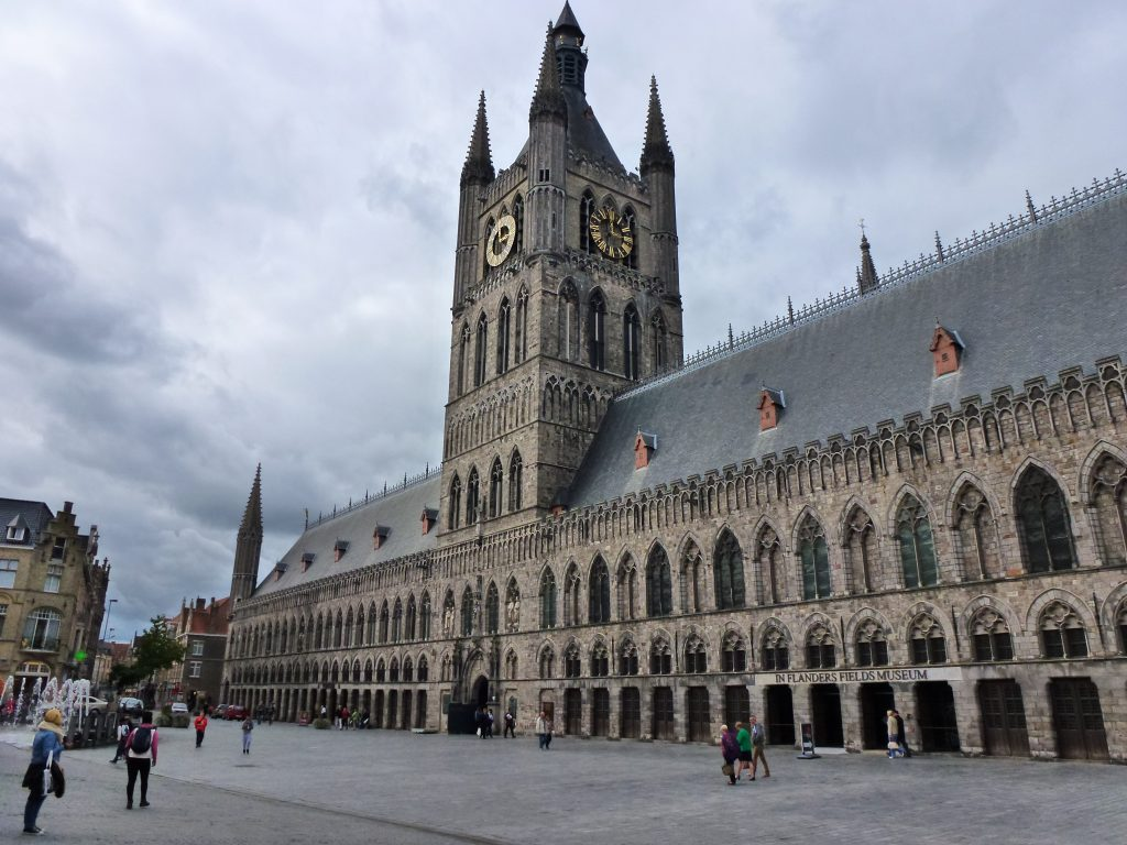 The impressive Ypres Cloths Hall