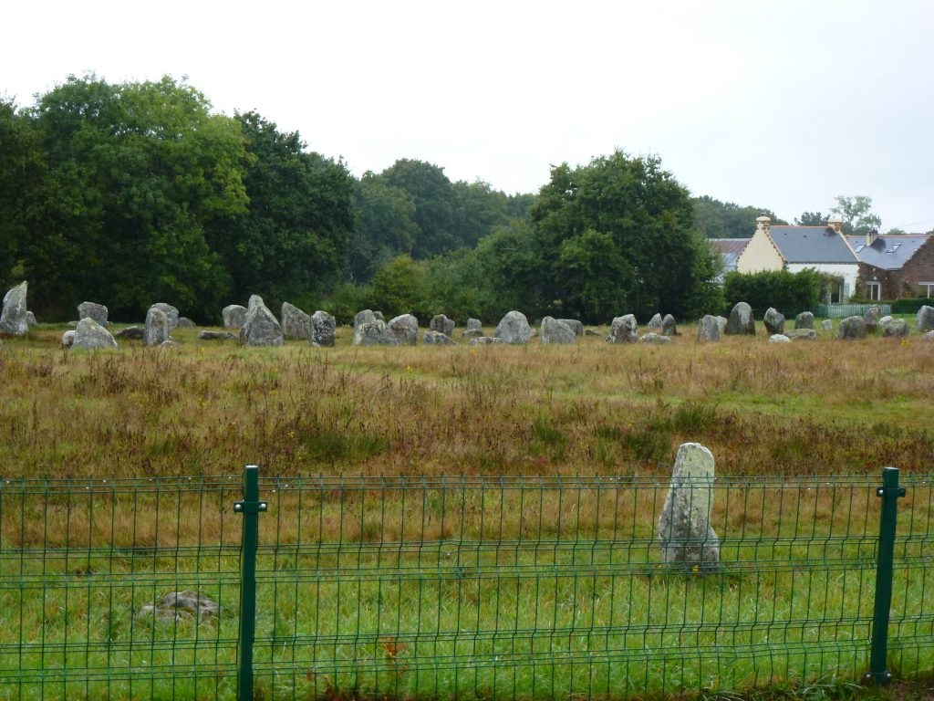It was a miserable day, but the ancient stones of Carnac beg the question 'what's it all mean ?'