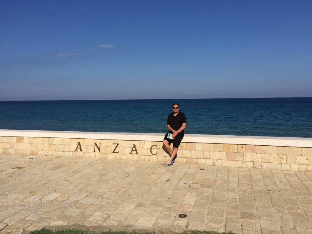 I have always wanted to visit Anzac and with Pam's support we have made it