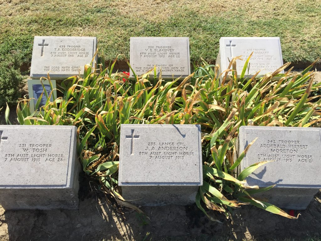 Graves of some of those Lighthorseman killed in the infamous charge made famous in Peter Weir's film