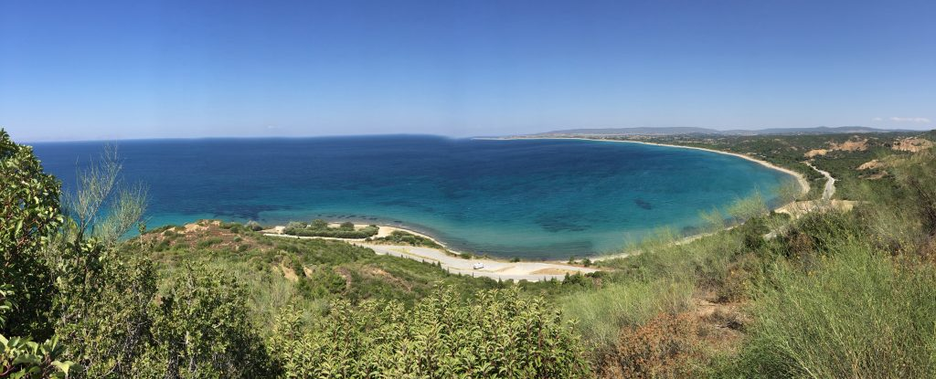 Anzac, North Beach and Suvla in the distance. From the top of Plugge's Plateau.