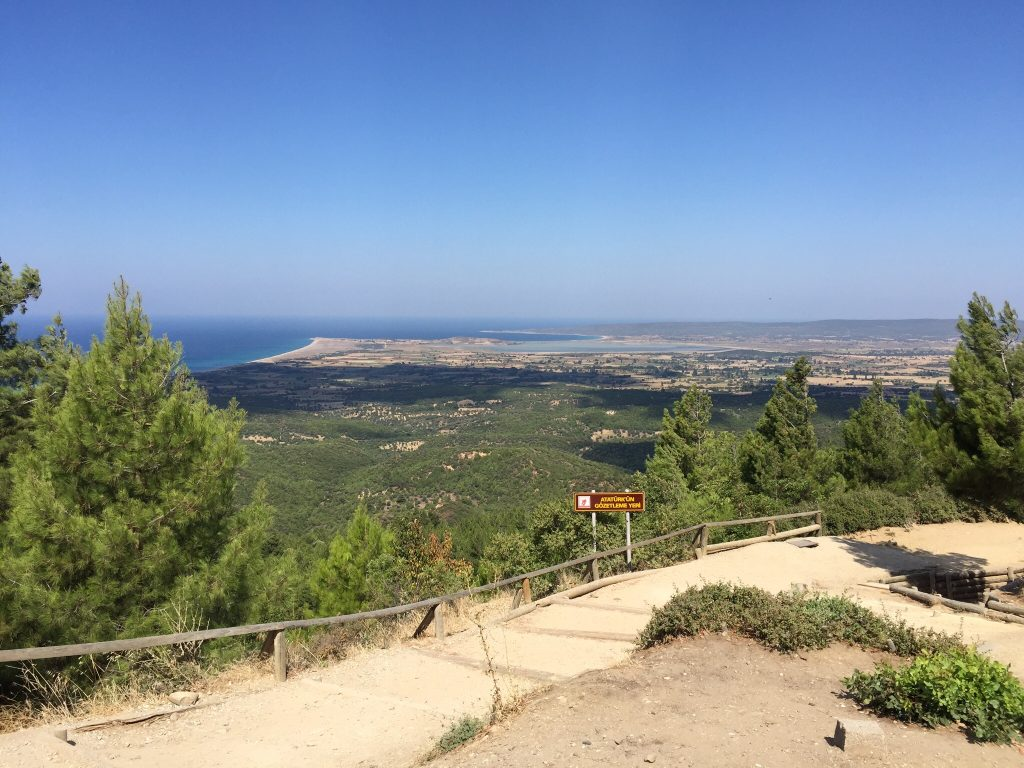 The view of Suvla is panoramic from Chunuk Bair.