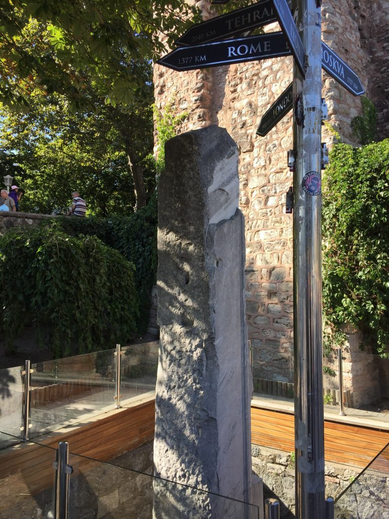 Found this by chance whilst looking for a cool spot to sit down. The centre post of Constantinople, from this small column the Romans and Byzentines measured distances all over the empires.