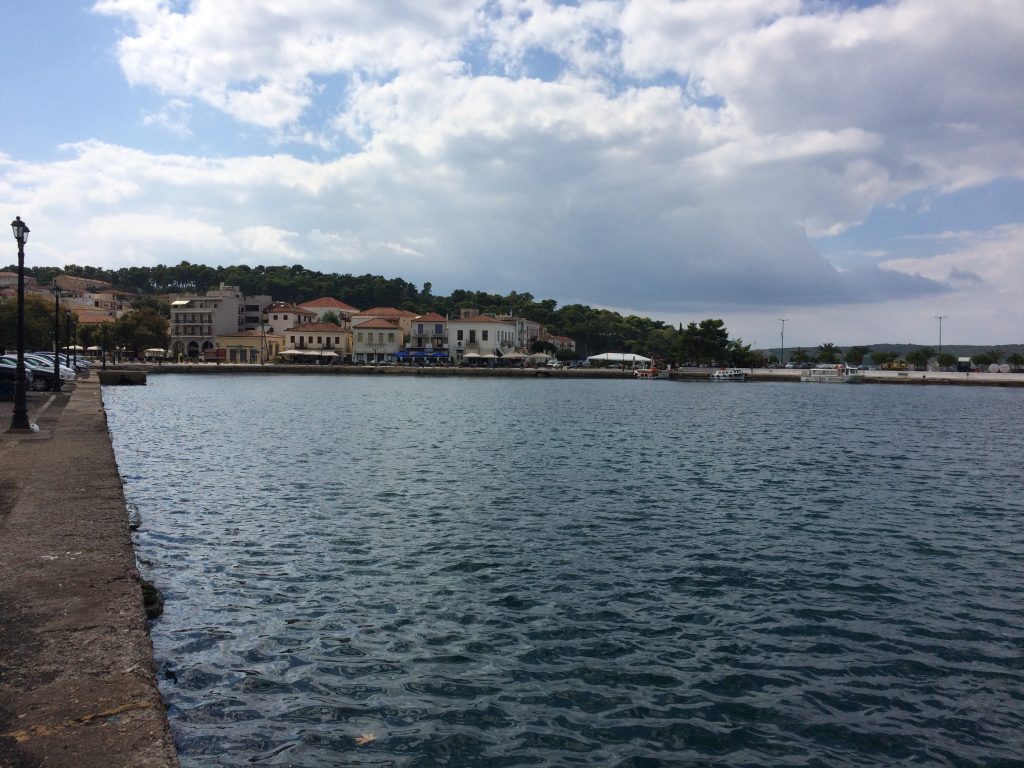 The port at Pylos, an old Venetian Castle just behind.