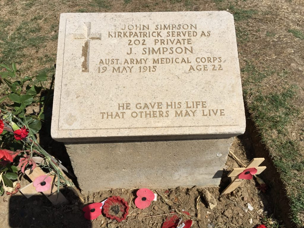 According to the book the most visited grave on Anzac.